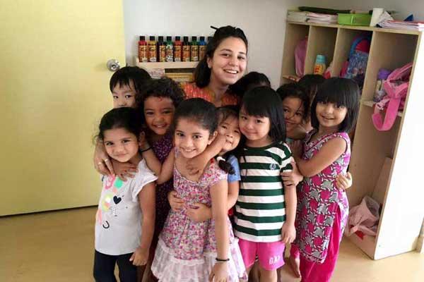 Teacher & Preschoolers